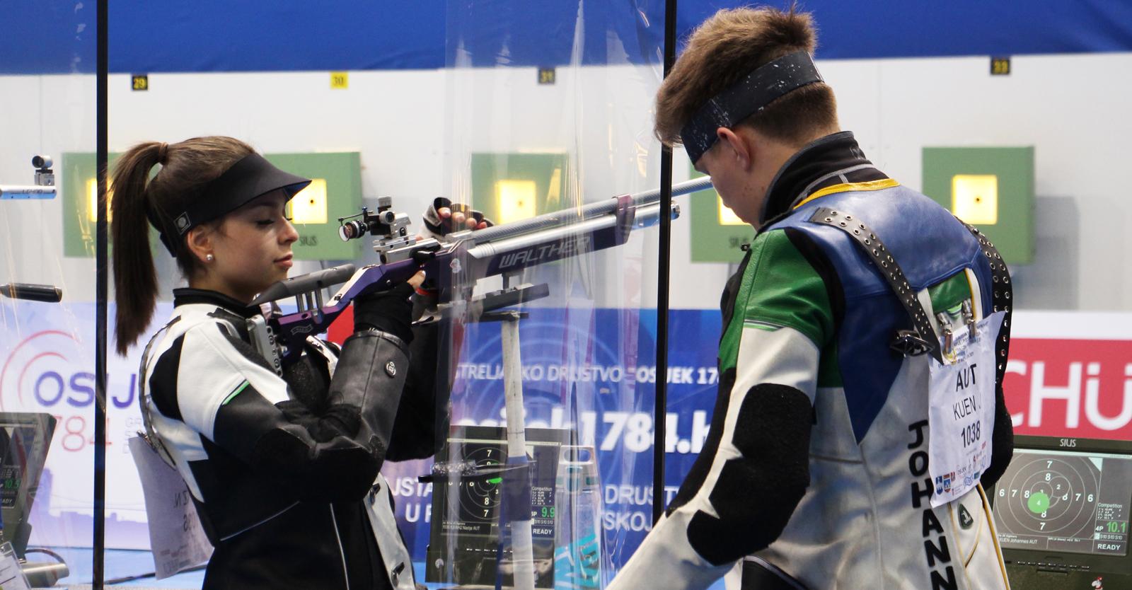 Nadja Krainz und Johannes Kuen im Luftgewehr Mixed Team © Margit Melmer, ÖSB