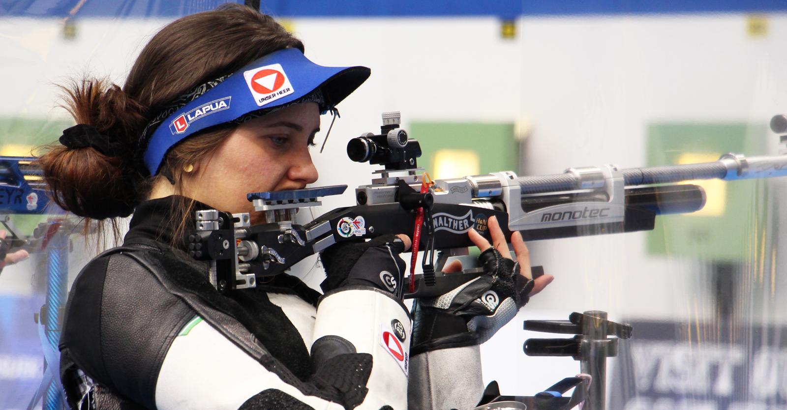 Rebecca Köck im EM-Luftgewehrbewerb der Frauen © Margit Melmer, ÖSB