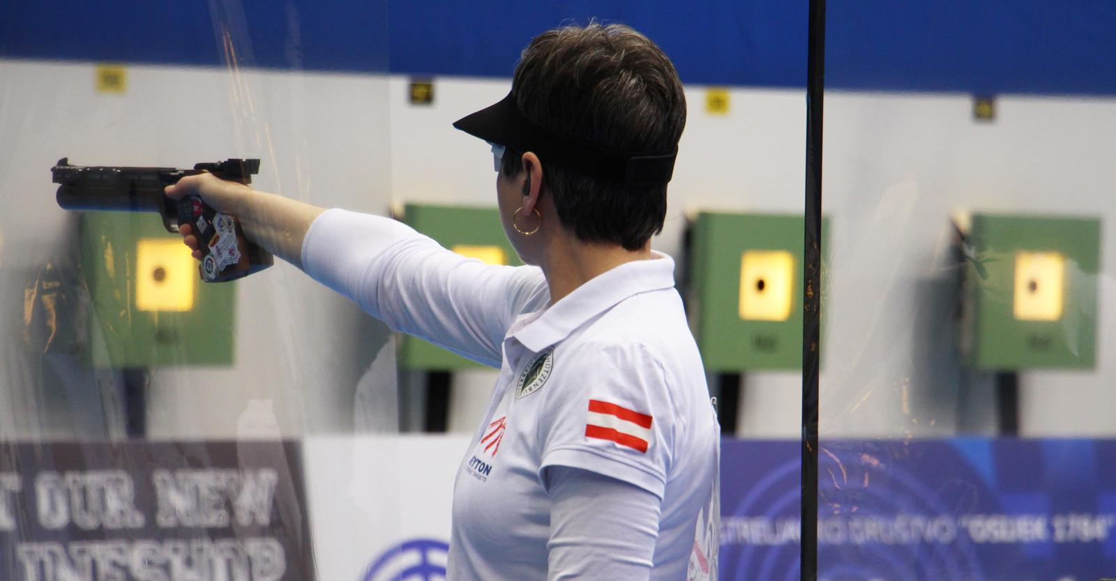 Sylvia Steiner verpasste Finalqualifikation im EM-Luftpistolenbewerb der Frauen um Haaresbreite © Margit Melmer, ÖSB