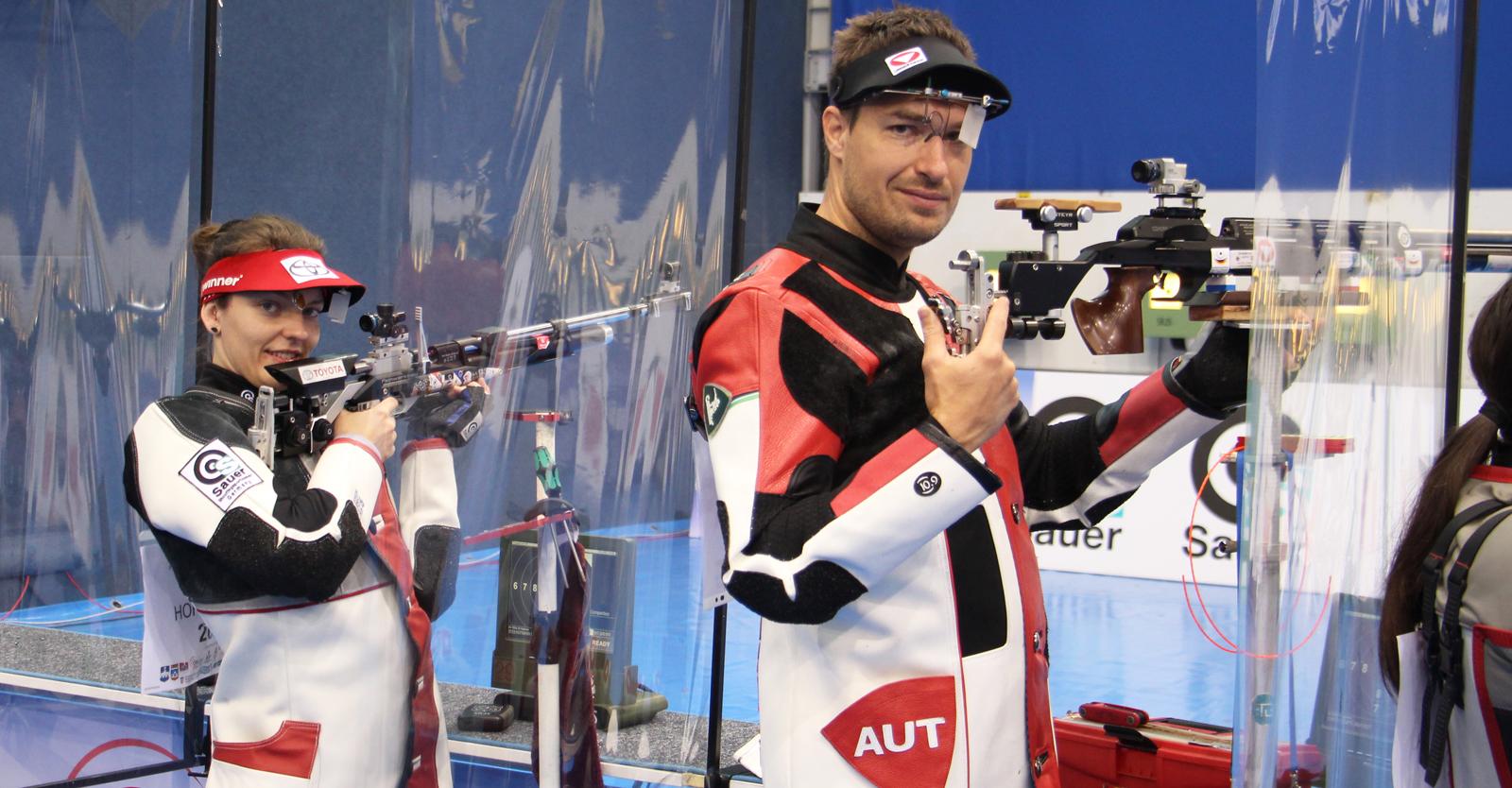 Olivia Hofmann & Martin Strempfl erreichten im LG-Mixed-Team Rang 23 © Margit Melmer, ÖSB