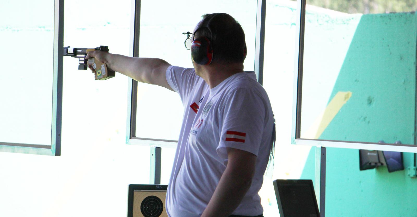 Richard Zechmeister im EM-Bewerb 25m-Zentralfeuerpistole © Margit Melmer, ÖSB