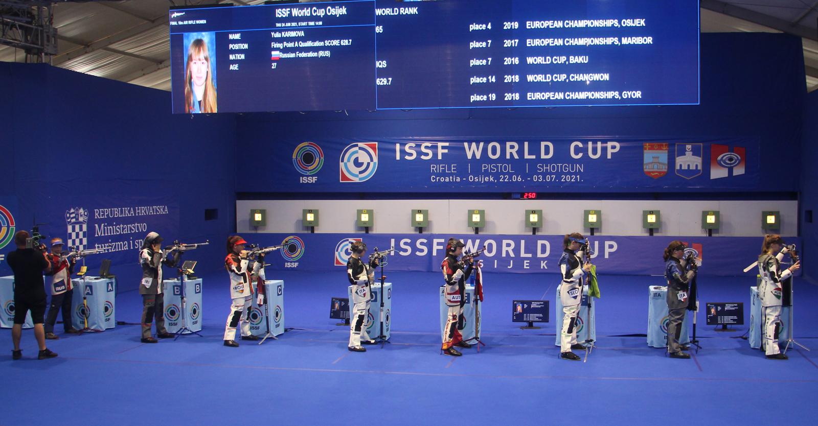 Erstes Weltcupfinale für Sheileen Waibel beim ISSF WC Osijek © Margit Melmer, ÖSB