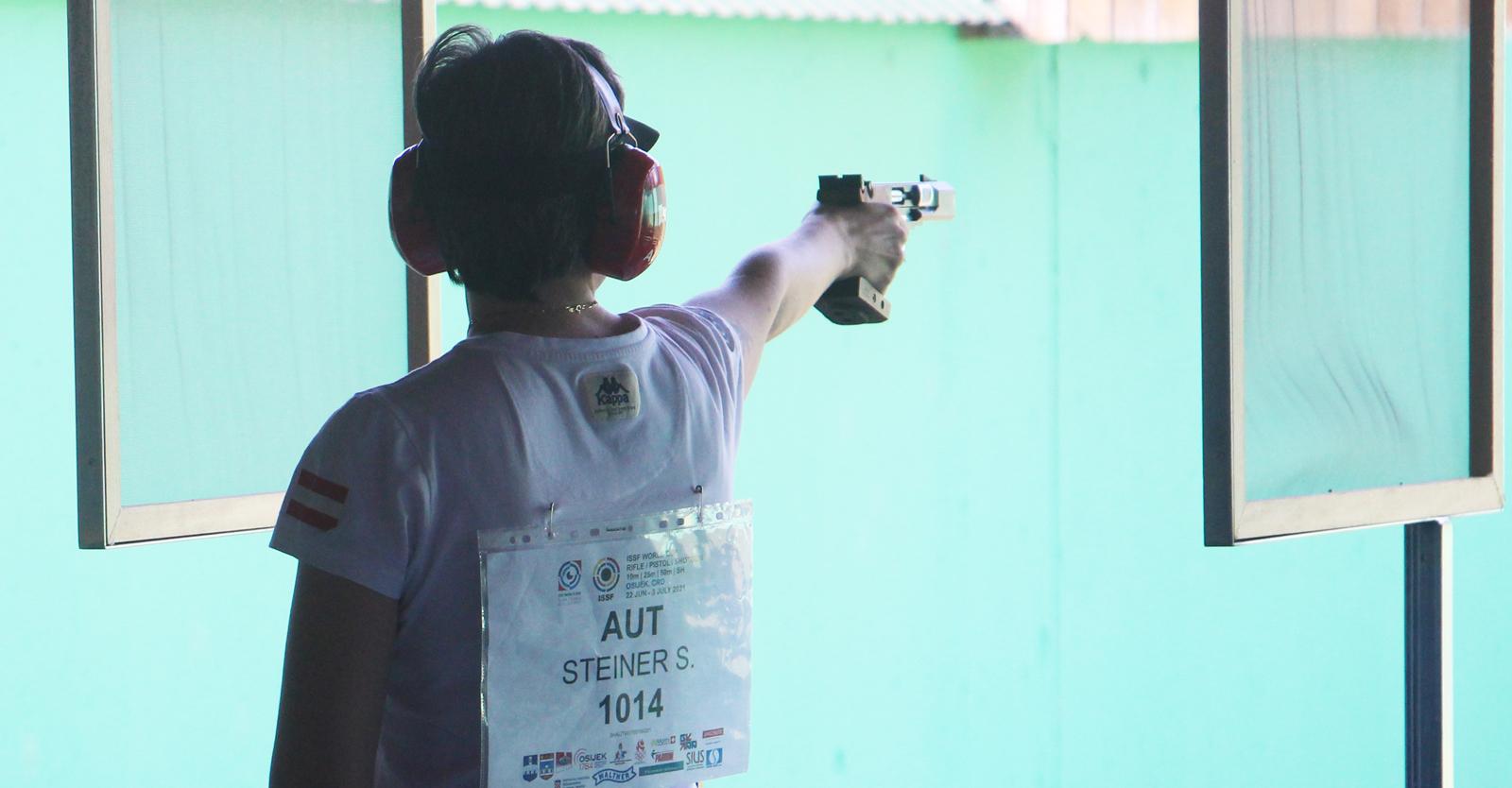 Diesmal wurde es mit der 25m-Pistole keine Finalqualifikation für Steiner © Margit Melmer, ÖSB