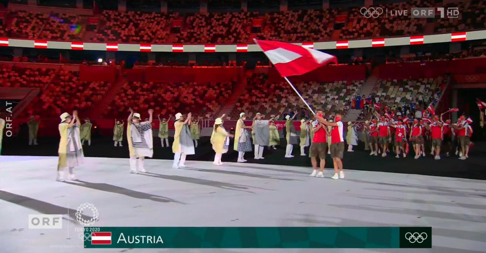 ORF-Übertragung der Eröffnungsfeier der Olympischen Spiele 2020 in Tokio