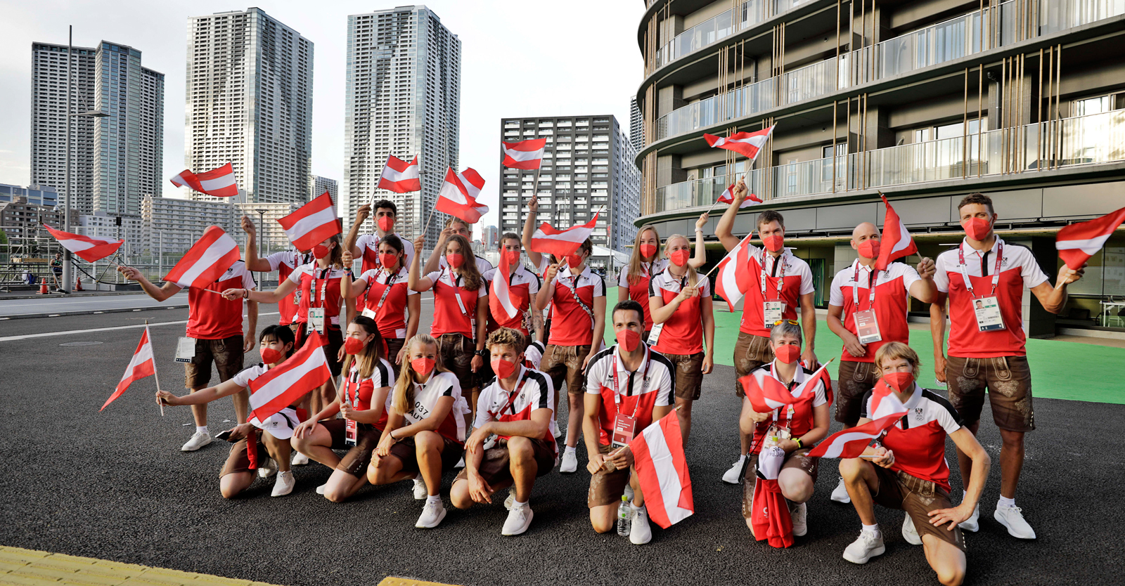 Team Austria vor der Eröffnungsfeier © ÖOC
