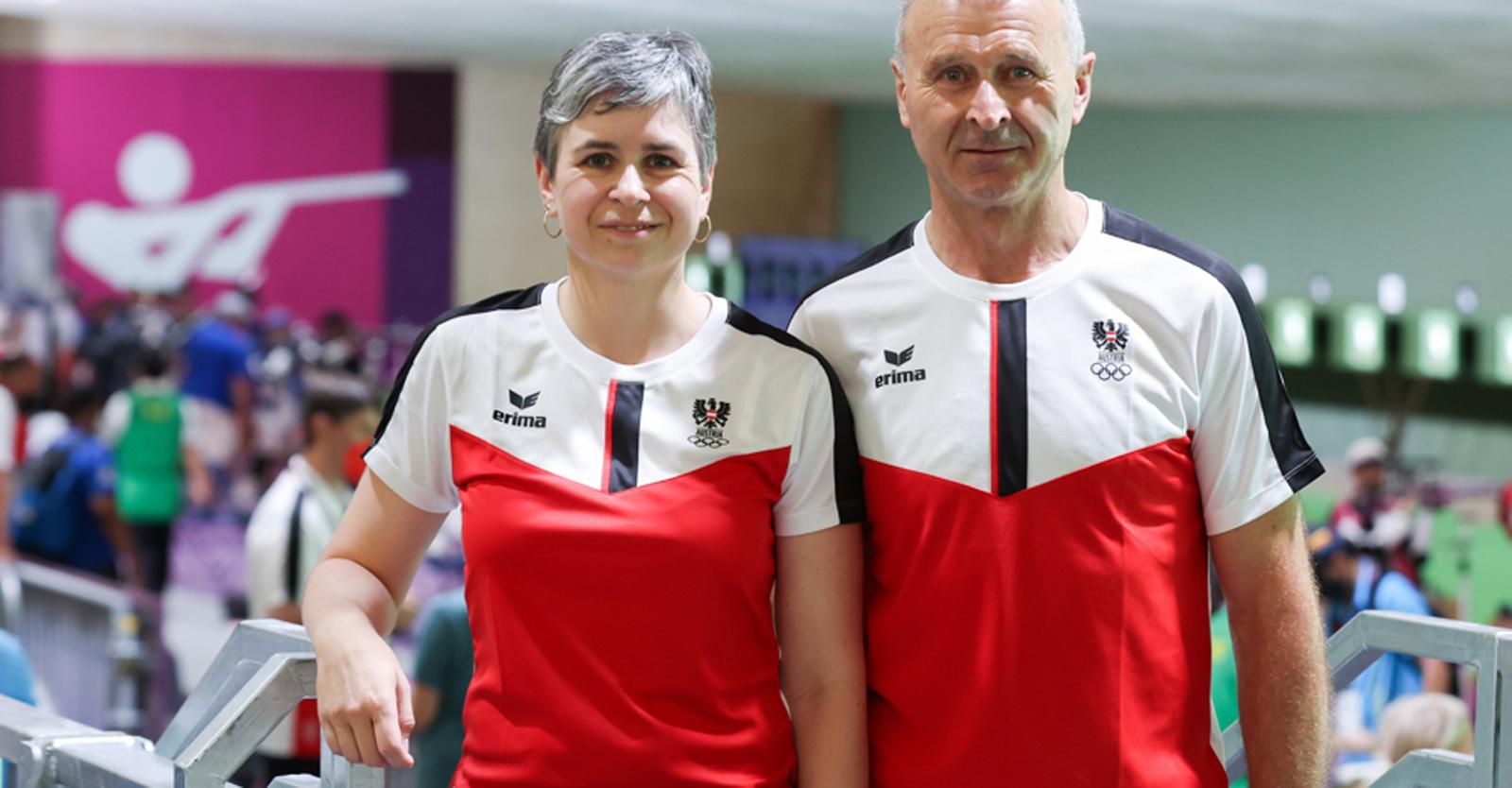 Ein gutes Team: Sylvia Steiner und Vater/Trainer Franz © ÖOC/GEPA