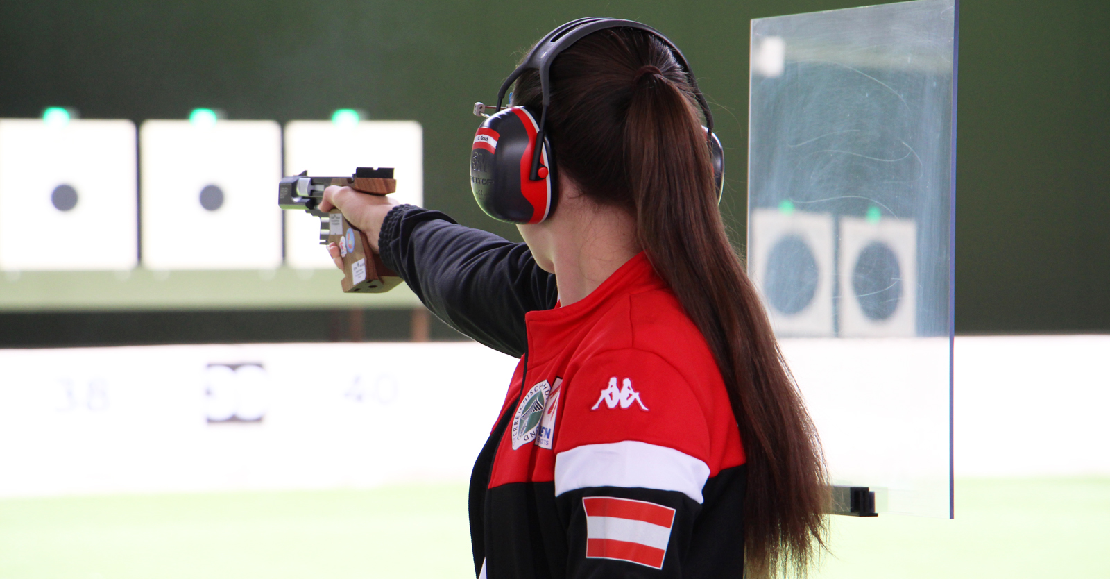 Corina Gosch bringt mit der 25m-Pistole in Lima eine persönliche Topleistung auf die Scheibe © Margit Melmer, ÖSB