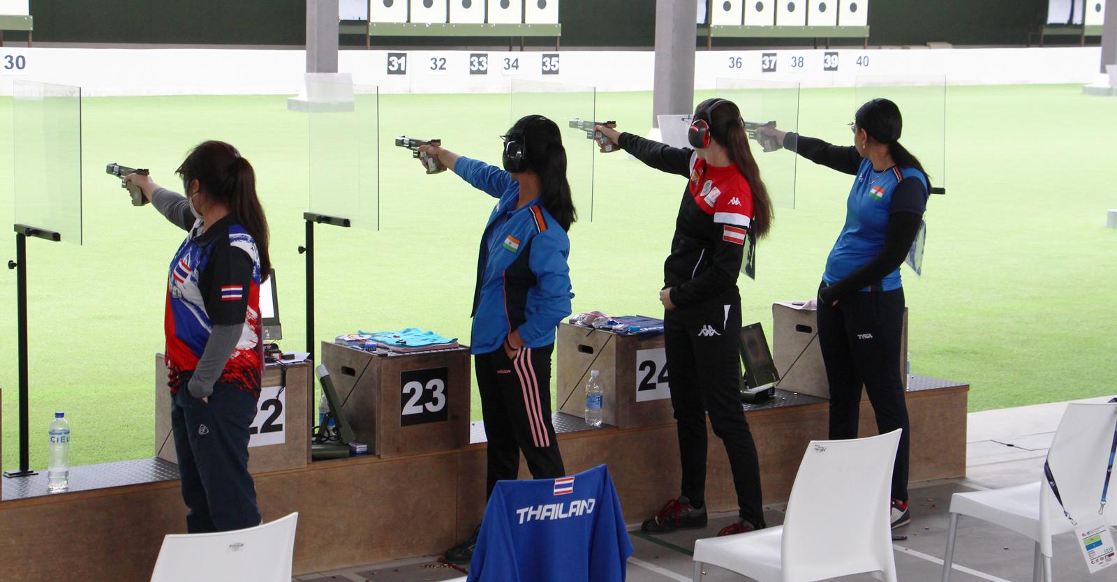 Ein guter Abschluss der Junioren-WM in Lima gelang Corina Gosch mit der 25m-Standardpistole © Margit Melmer, ÖSB